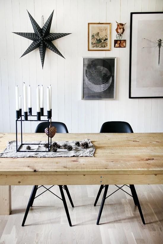 skandinavische weihnachtsdeko weihnachtsstern weiße kerzen