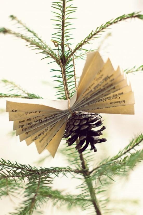 skandinavische weihnachtsdeko zeitung zapfen