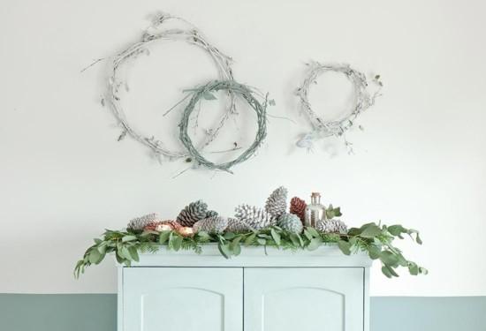 stilvolle skandinavische weihnachtsdeko kommode