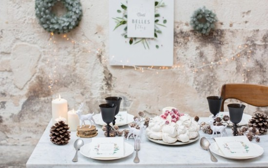 stimmungsvolle skandinavische weihnachtsdeko tischdeko