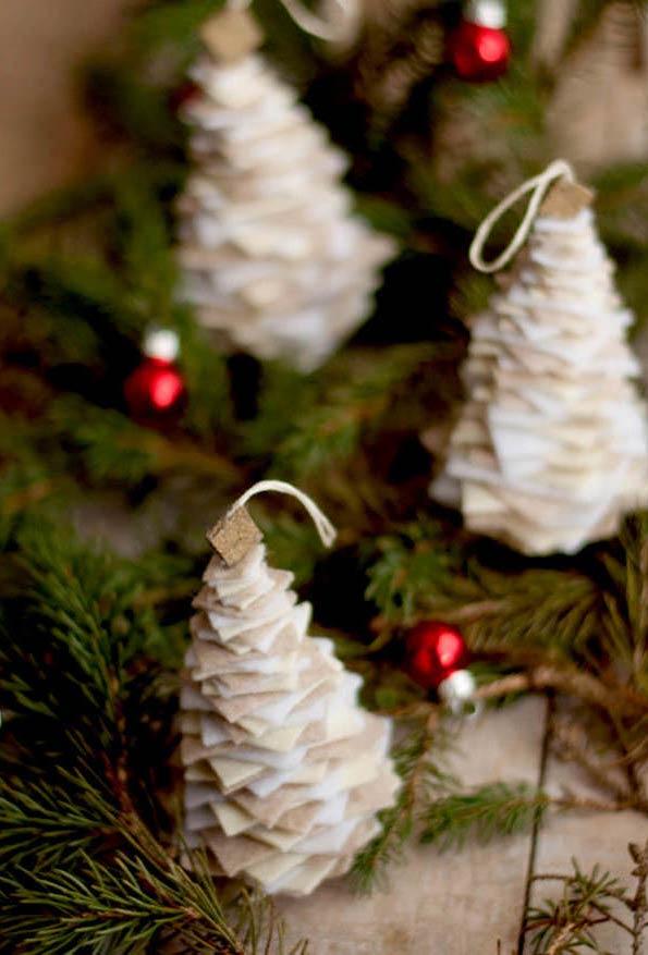 tannenbaum basteln aus weißem papier und andere materialien