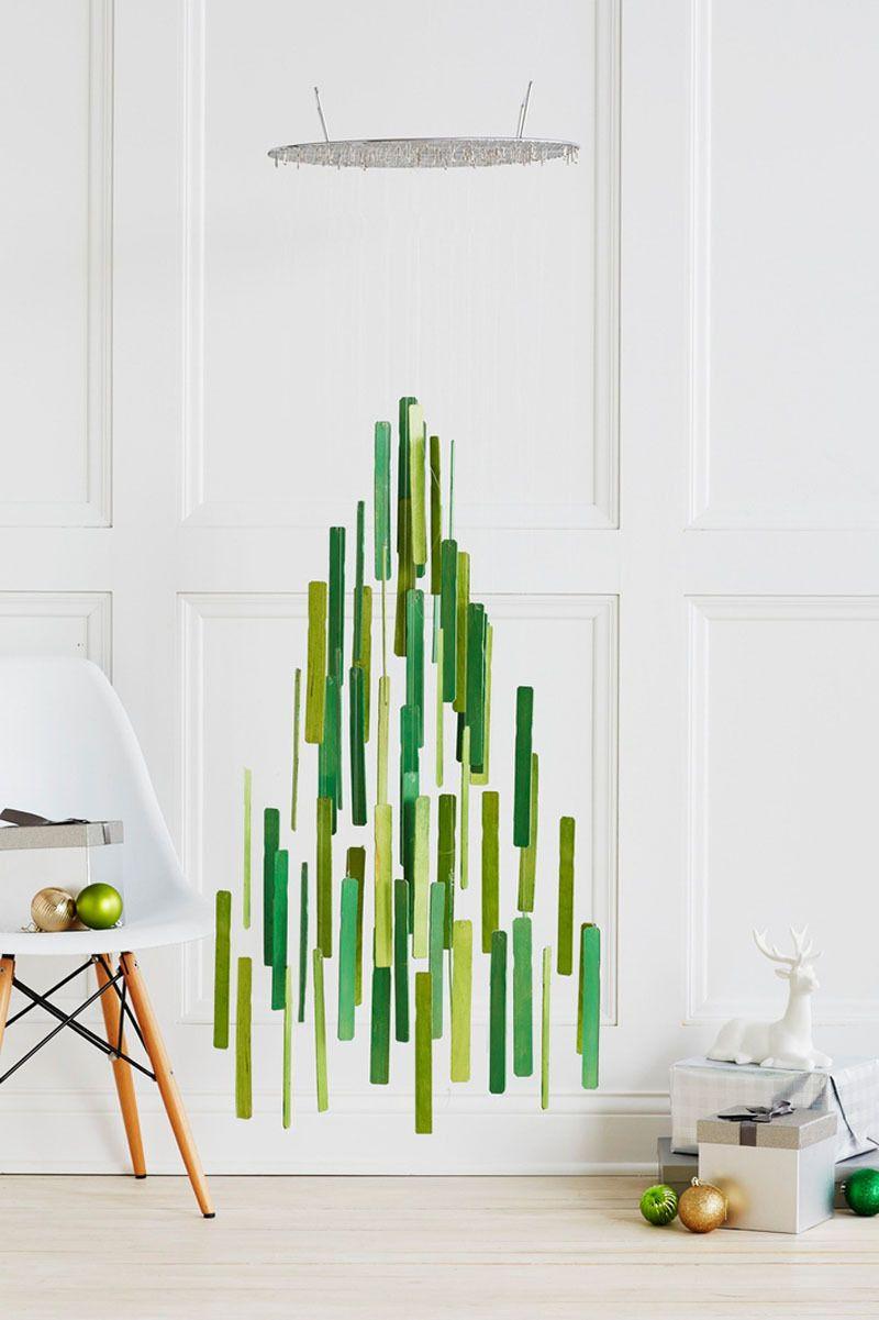 tannenbaum basteln hängende idee