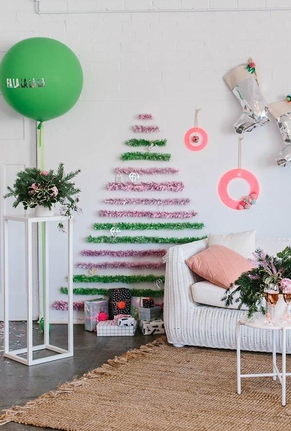 tannenbaum basteln mehrere farben