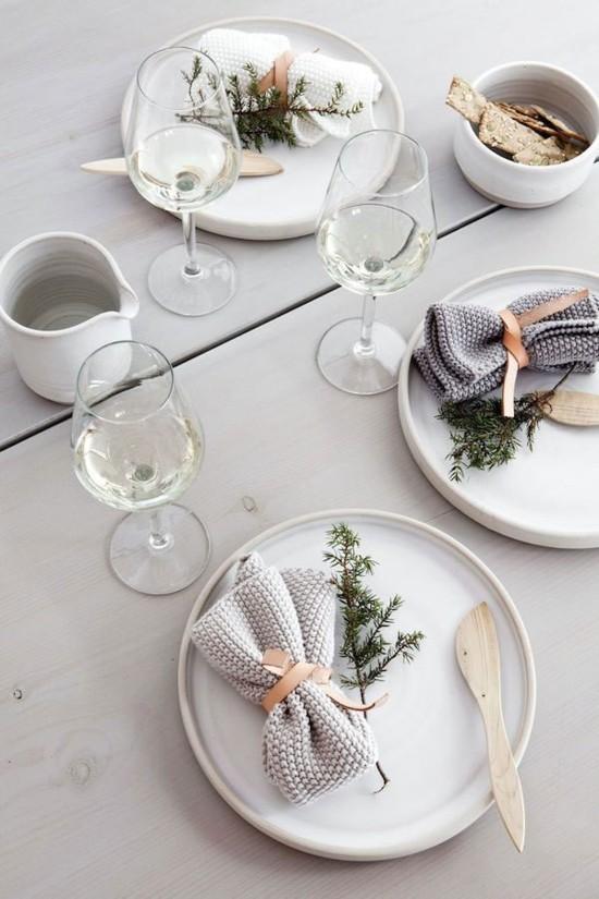 tischdeko ideen skandinavische weihnachtsdeko