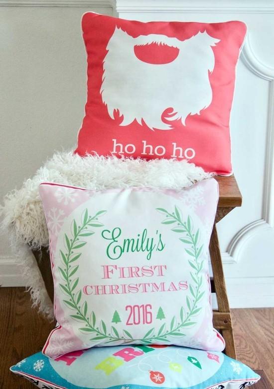 tolle botschaft für weihnachten dekokissen