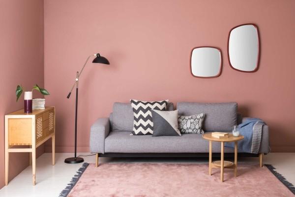 trendfarben tolle wandgestaltung in pink