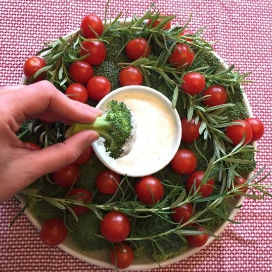 veganen rohen weihnachtskranz selber machen
