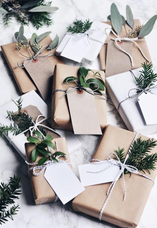 verpackungen skandinavische weihnachtsdeko