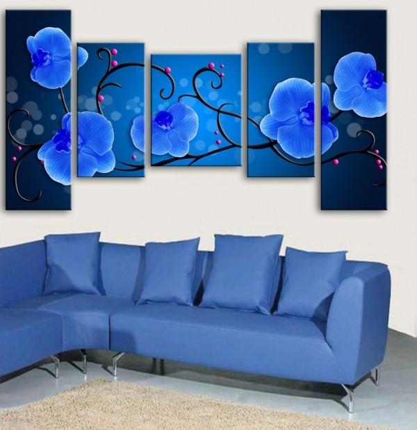 verschiedene blaus deko ideen