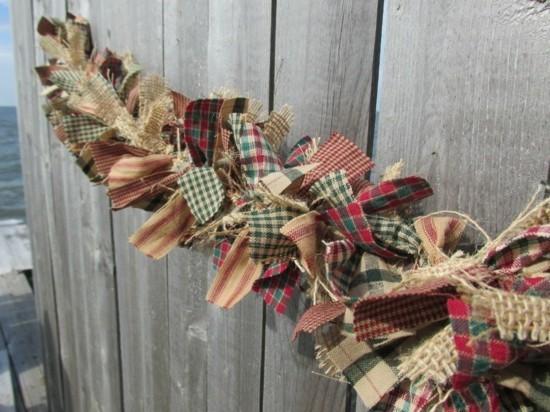 vintage girlande basteln aus stoffresten