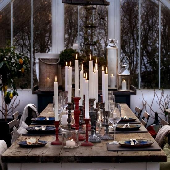vintage tischdeko skandinavische weihnachtsdeko