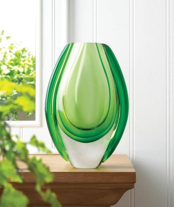 weiß grüne vase deko ideen