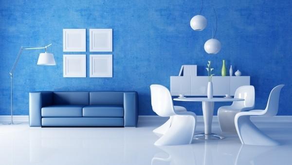 weiße und blaue dekoration deko ideen