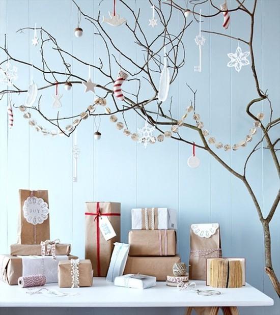 weihnachtsbaum geschenke skandinavische weihnachtsdeko