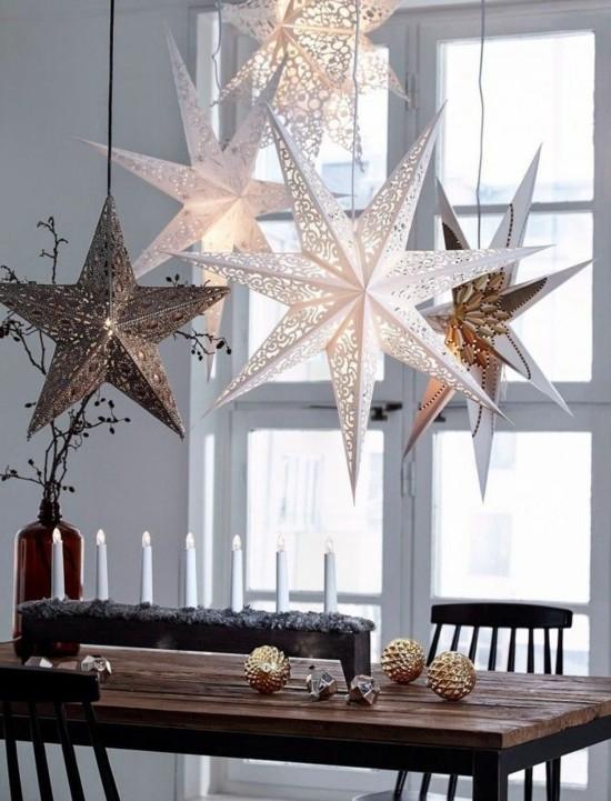 weihnachtssterne skandinavische weihnachtsdeko tischdeko