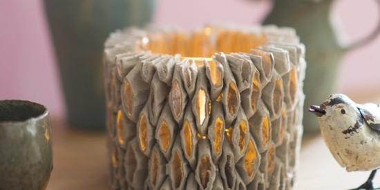 windlichter basteln aus eierkarton