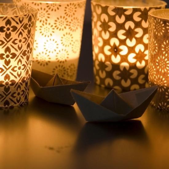 windlichter basteln mit geschenkpapier
