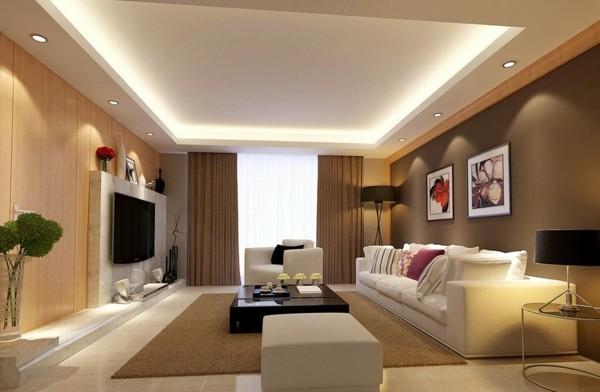 wohnzimmer led leuchten designtipps
