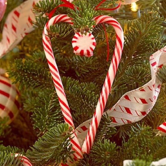 zuckerstangen deko christbaumschmuck idee