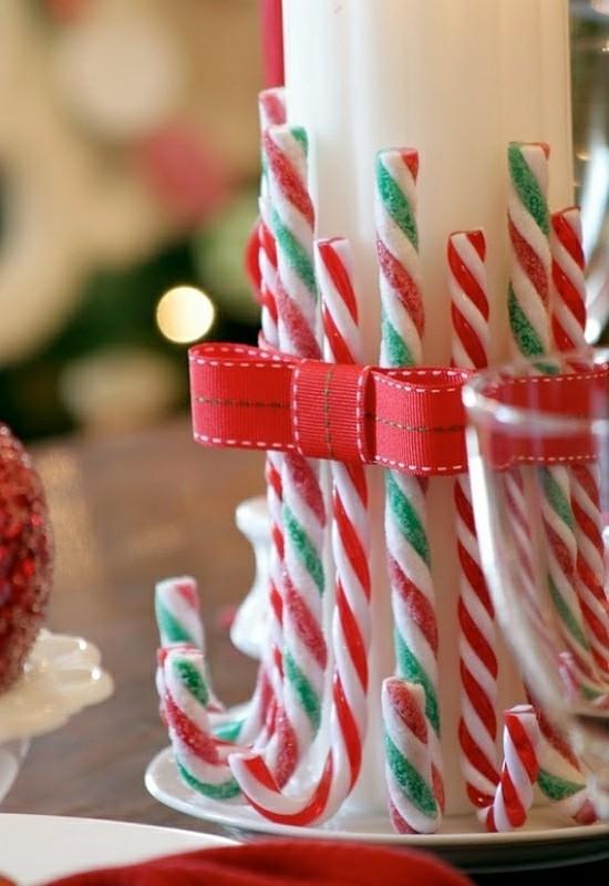 zuckerstangen deko ideen zu weihnachten