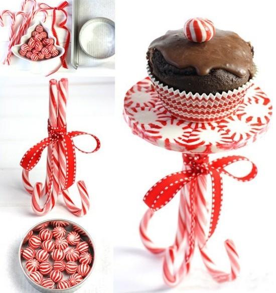 zuckerstangen deko pfefferminzbonbons weihnachten
