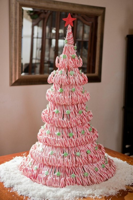 zuckerstangen deko weihnachtsbaum basteln