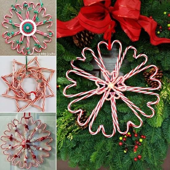 zuckerstangen deko weihnachtsbaumschmuck basteln