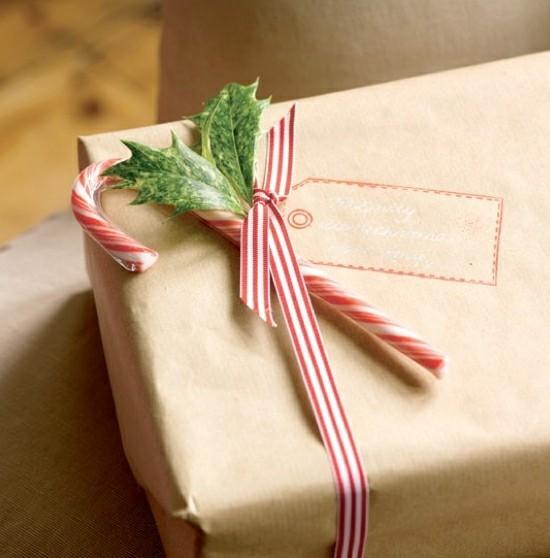 zuckerstangen deko weihnachtsgeschenke