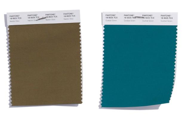 zwei grüns pantone trendfarben modetrends