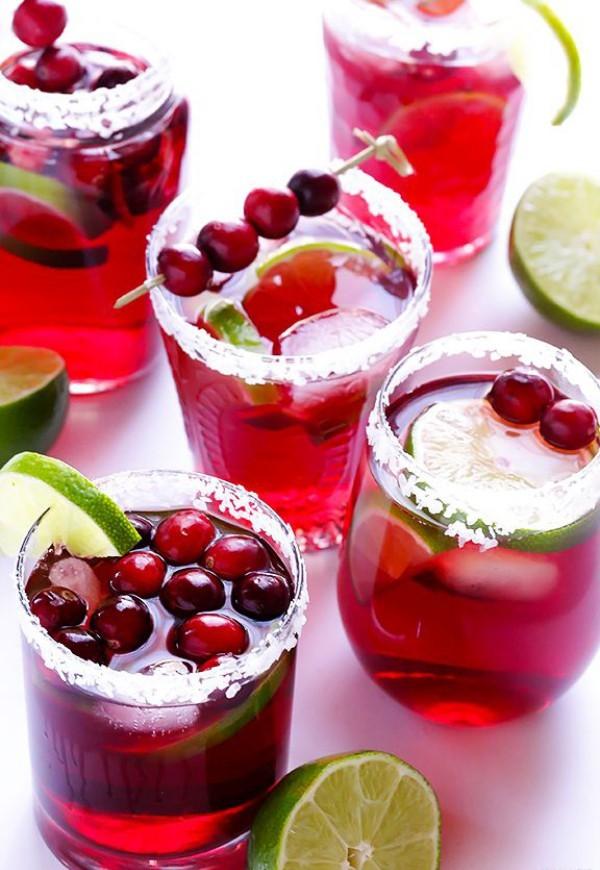 Festliche Cocktails zu Weihnachten und Silvester Cranbeery Margaritas