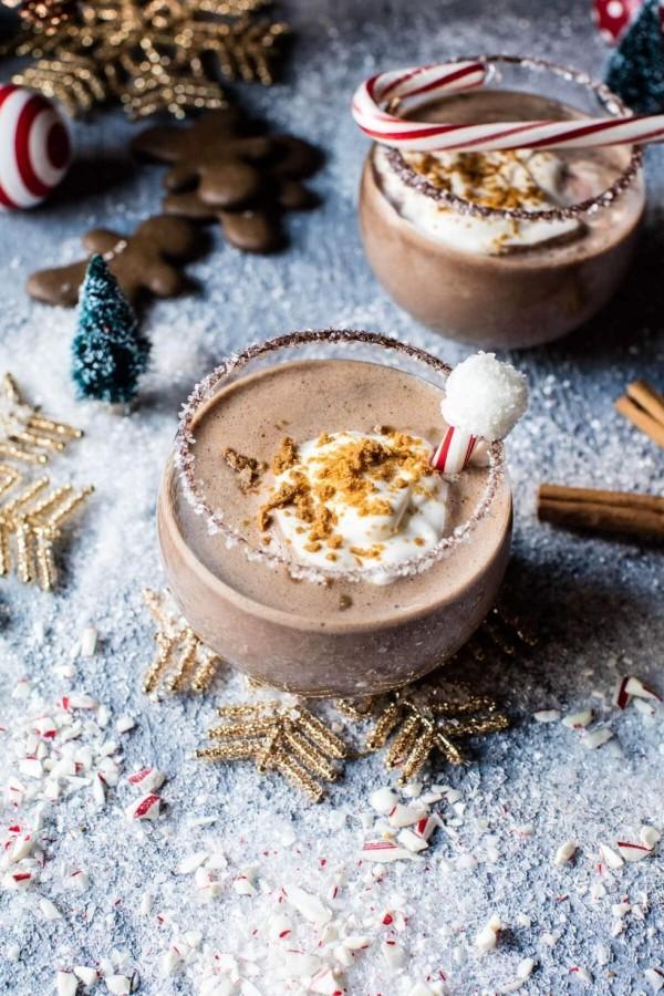 Festliche Cocktails zu Weihnachten und Silvester Nordpol Cocktail mit feinem Schokoladengeschmack