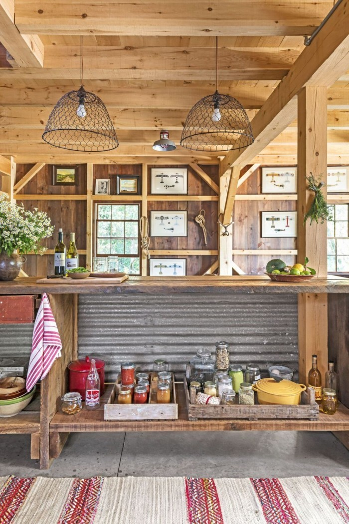Kücheninsel ganz einfach gebaut aber mit viel Stauraum