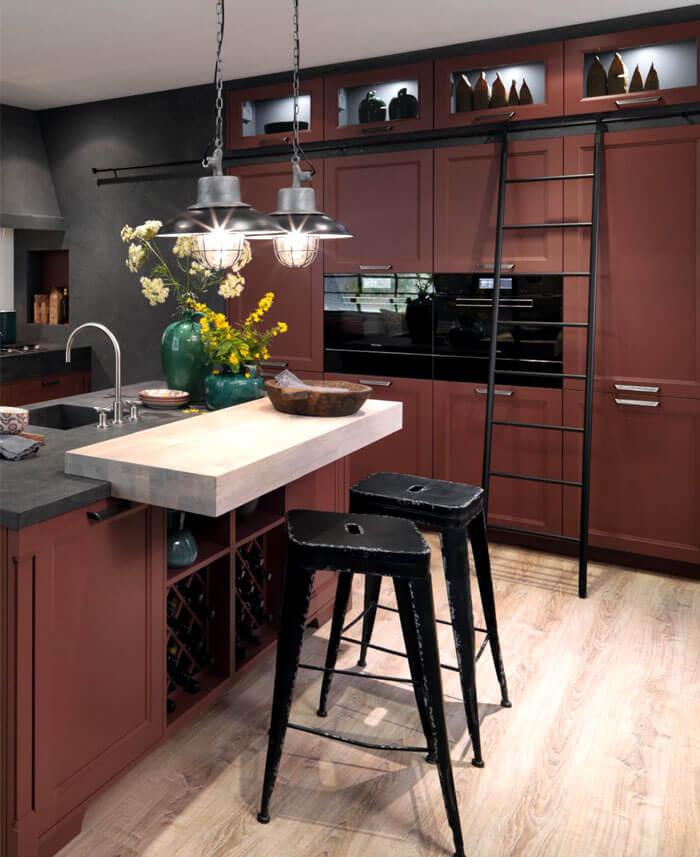 Küchentrends dunkles braun idee