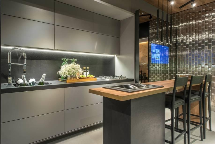 Küchentrends flächen in grau und braun