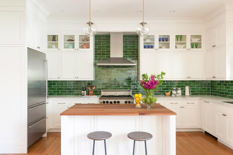 Küchentrends grüne fliesen ideen