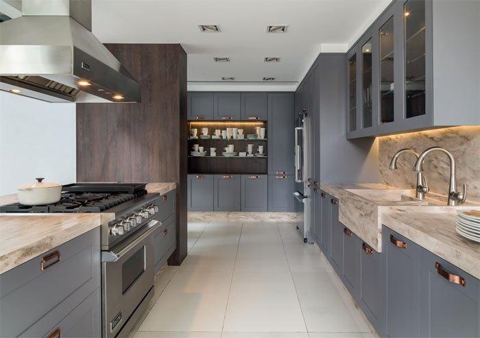 Küchentrends grau und braun