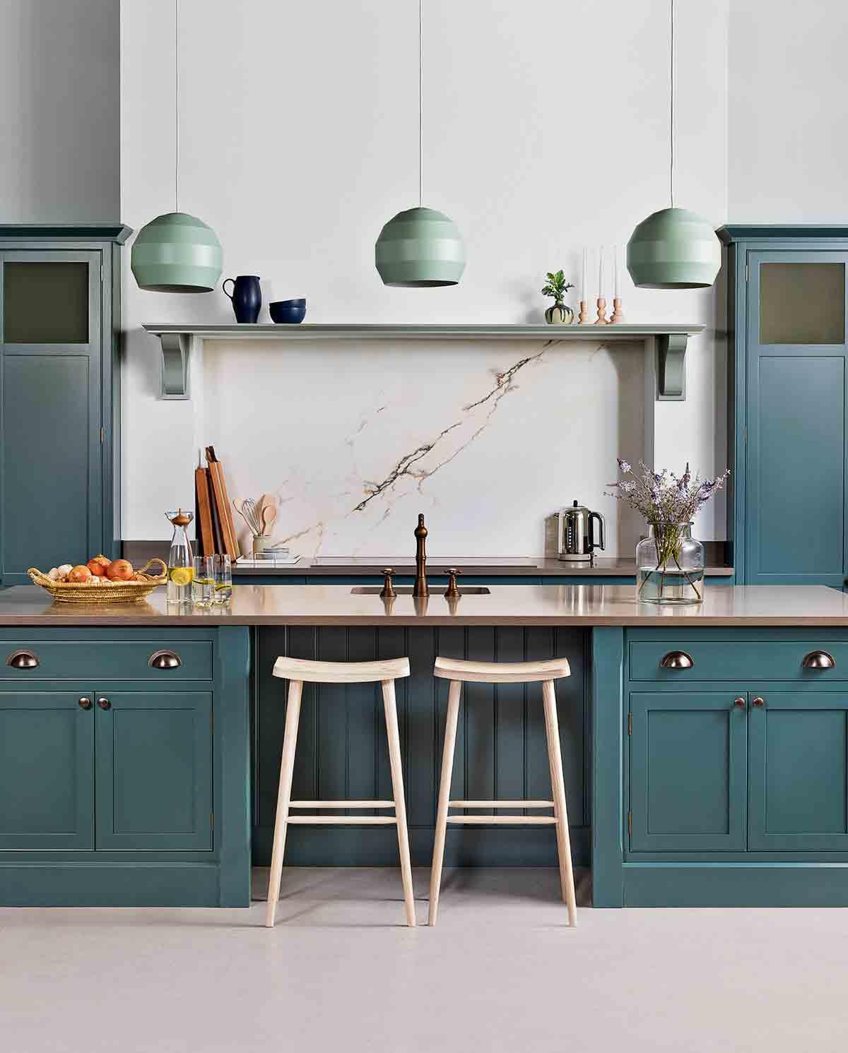 Küchentrends hellgrüne schattierungen