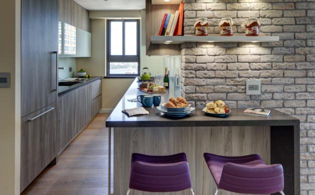 Küchentrends mit lila stühle idee