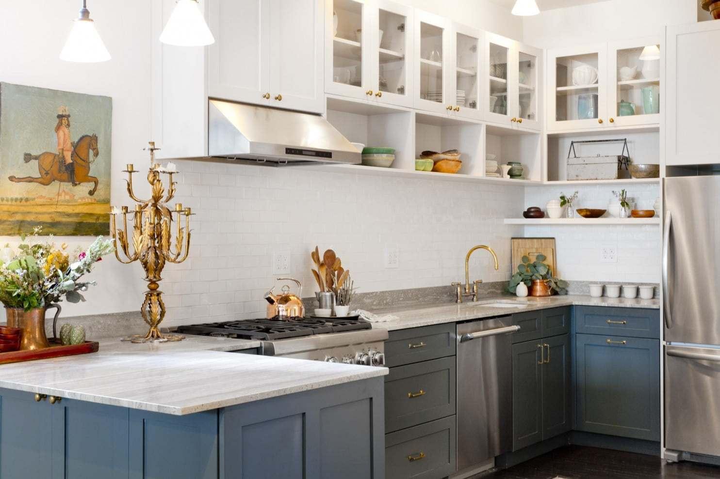 Küchentrends modern mit antiken akzenten