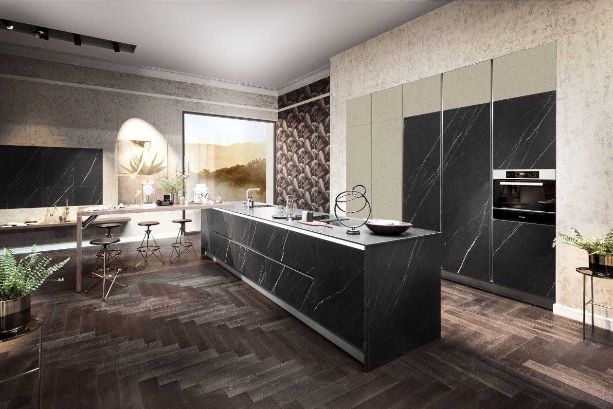 Küchentrends modern mit naturstein
