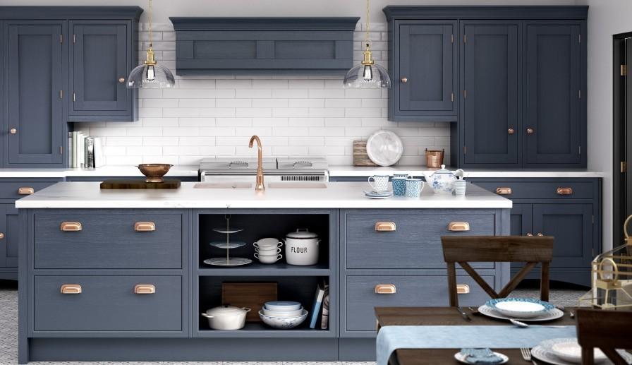 Küchentrends moderne graue farbe