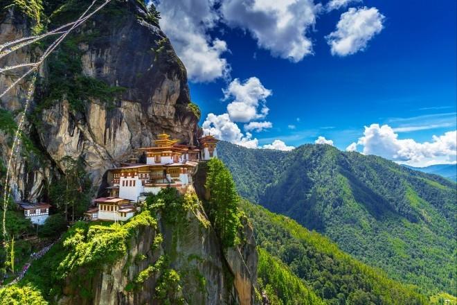 Reiseziele 2019 Felsenkloster in Bhutan in Himalaya