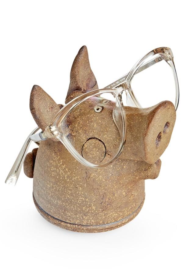 Weihnachtsgeschenke für Mama lustiges Präsent Schwein als Ständer für die Brille