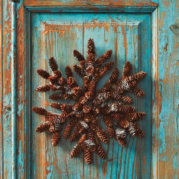 Weihnachtskranz rustikal aus Zapfen