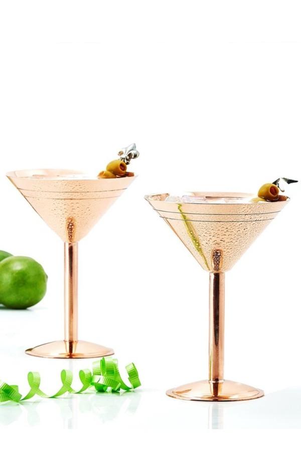 X-mas Geschenkideen Martini trinken mit Zwilling-Dame