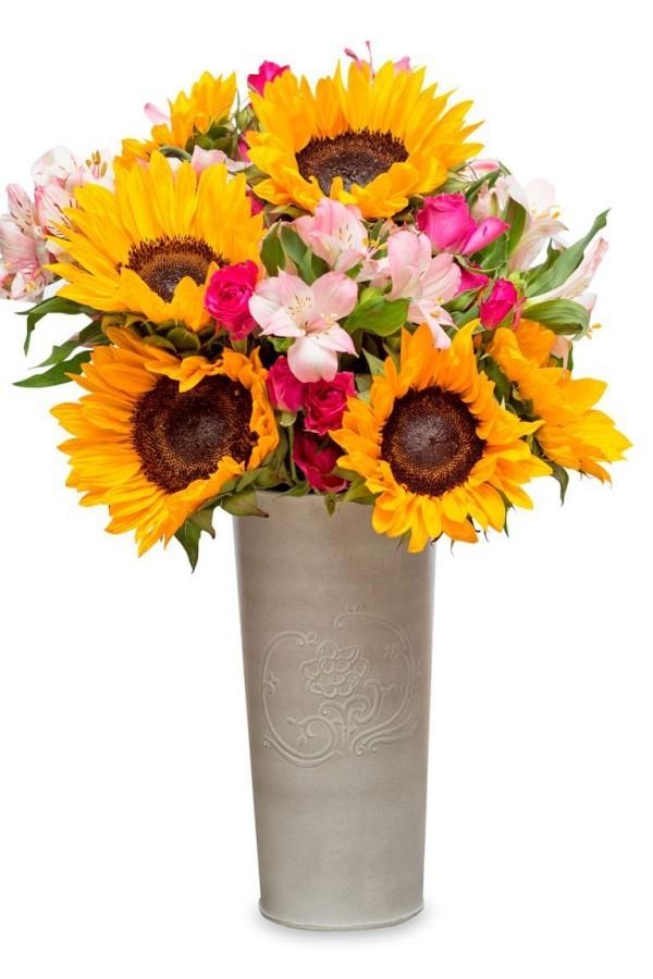 X-mas Geschenkideen farbenfrohe Blumen in Vase tolles Präsent