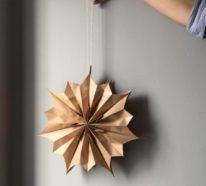 Papiersterne basteln – Ideen aus Butterbrottüten und anderen schlichten Materialien
