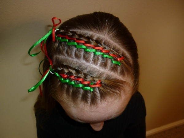 cute hairstyles for christmas New Quick Easy Cute Heart Ponytail Hairstyles For Girls Stock