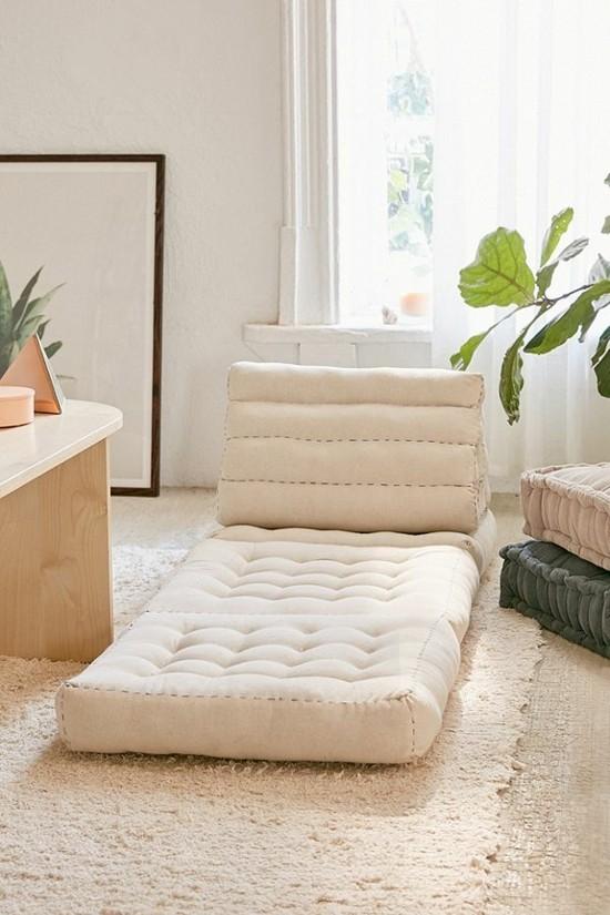 bed lounger floor cushion ideas