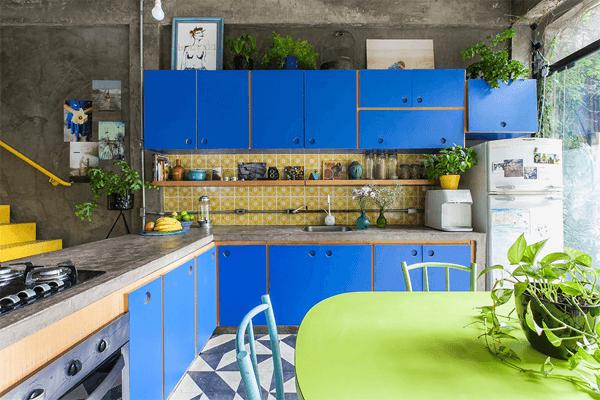 blaue küchenschränke Küchentrends